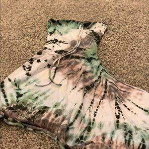 Used green apple tie dye dress